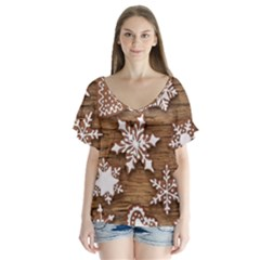 Christmas Cookies Flutter Sleeve Top