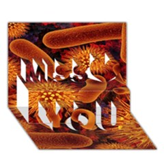 Chemical Biology Bacteria Bacterium Miss You 3d Greeting Card (7x5)