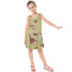 Dinosourus Kids  Sleeveless Dress