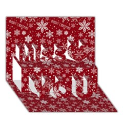 Christmas Day Miss You 3d Greeting Card (7x5)