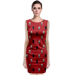 Cute Zombie Pattern Classic Sleeveless Midi Dress