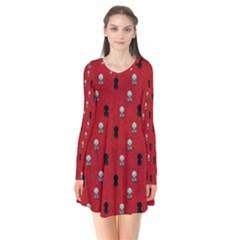 Cute Zombie Pattern Flare Dress