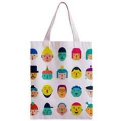 Face People Man Girl Male Female Young Old Kit Zipper Classic Tote Bag