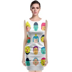 Face People Man Girl Male Female Young Old Kit Classic Sleeveless Midi Dress