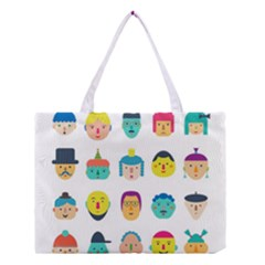 Face People Man Girl Male Female Young Old Kit Medium Tote Bag