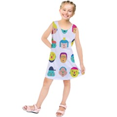 Face People Man Girl Male Female Young Old Kit Kids  Tunic Dress