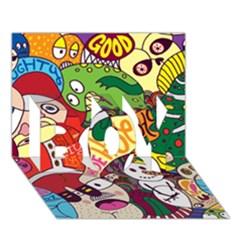 Face Mask Cartoons Stash Holiday Boy 3d Greeting Card (7x5)