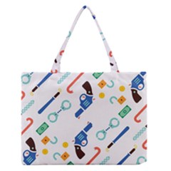 Guns Illustrations Medium Zipper Tote Bag