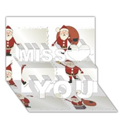 Images Natale Pinterest Christmas Clipart Reindeer Miss You 3d Greeting Card (7x5)