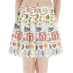 Health Habits Attitudes Hispanic Studied Sport Pleated Mini Skirt