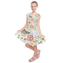 Health Habits Attitudes Hispanic Studied Sport Kids  Short Sleeve Dress