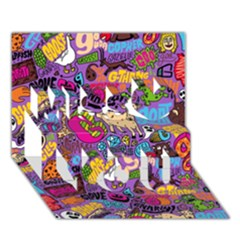 Gpattern Miss You 3d Greeting Card (7x5)