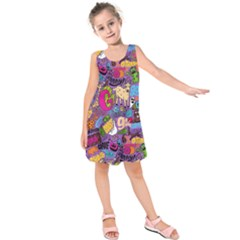Gpattern Kids  Sleeveless Dress