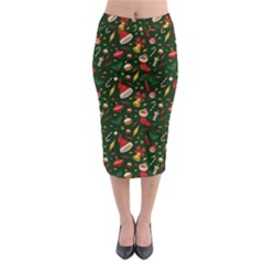Hat Merry Christmast Midi Pencil Skirt