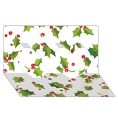 Images Paper Christmas On Pinterest Stuff And Snowflakes Twin Hearts 3d Greeting Card (8x4)