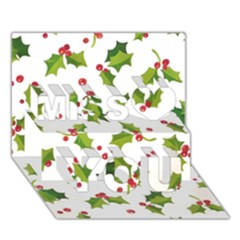 Images Paper Christmas On Pinterest Stuff And Snowflakes Miss You 3d Greeting Card (7x5)