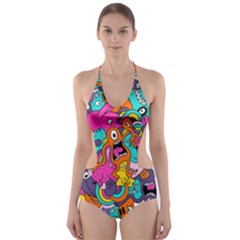 Jumble Bunny Cut Out One Piece Swimsuit