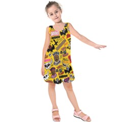 Lolzig Pattern Kids  Sleeveless Dress
