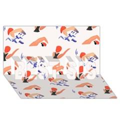 Olympics Swimming Sports BEST SIS 3D Greeting Card (8x4)
