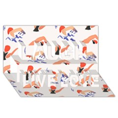 Olympics Swimming Sports Laugh Live Love 3D Greeting Card (8x4)
