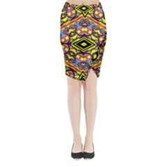 Spirit Time5588 52 Pngy Midi Wrap Pencil Skirt