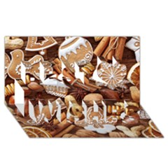 Nuts Cookies Christmas Best Wish 3d Greeting Card (8x4)