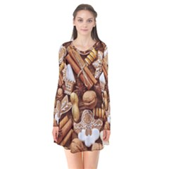 Nuts Cookies Christmas Flare Dress