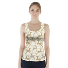 Paper Gift Deer Racer Back Sports Top