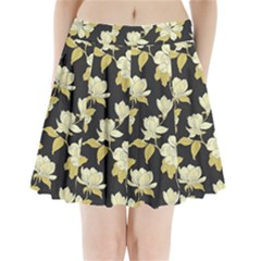 Pattern Rose Pleated Mini Skirt