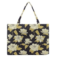 Pattern Rose Medium Zipper Tote Bag