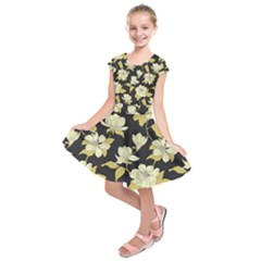 Pattern Rose Kids  Short Sleeve Dress
