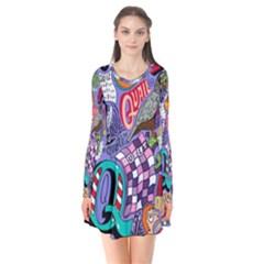 Q Pattern Flare Dress