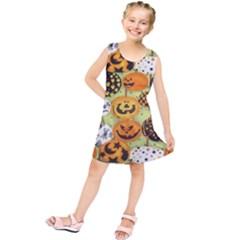Print Halloween Kids  Tunic Dress