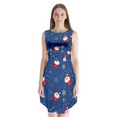 Santa Clause Sleeveless Chiffon Dress