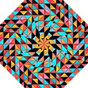 Colorful Abstract Geometric Design Straight Umbrellas View1