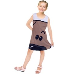 Peeping Blackmouth Cur Kids  Tunic Dress