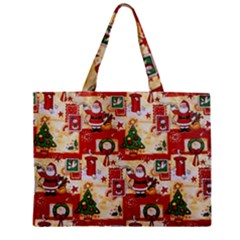 Santa Clause Mail Bird Snow Zipper Mini Tote Bag