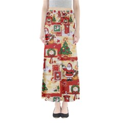 Santa Clause Mail Bird Snow Maxi Skirts