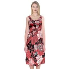 Tals Stupid Midi Sleeveless Dress