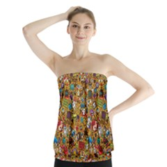 Retro Face Strapless Top