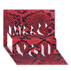 Snike Miss You 3d Greeting Card (7x5)