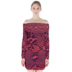 Snike Long Sleeve Off Shoulder Dress