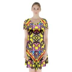 Spirit Time5588 52 Pngyg Short Sleeve V-neck Flare Dress