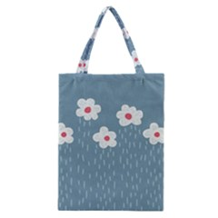 Cloudy Sky With Rain And Flowers Classic Tote Bag