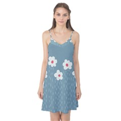 Cloudy Sky With Rain And Flowers Camis Nightgown