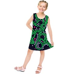 Green fantasy Kids  Tunic Dress