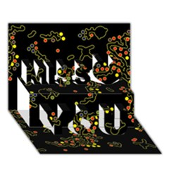 In My Mind 2 Miss You 3d Greeting Card (7x5)