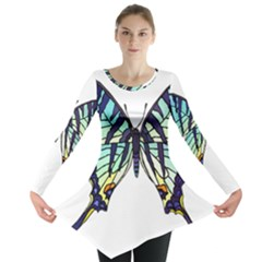 A Colorful Butterfly Long Sleeve Tunic