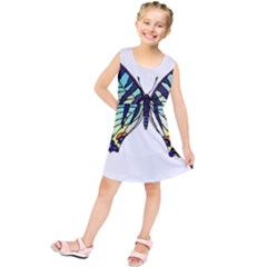 A Colorful Butterfly Kids  Tunic Dress