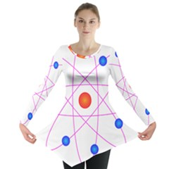 Atom Model Vector Clipart Long Sleeve Tunic